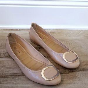 Me Too - Nude/Rosegold Ballet Flats